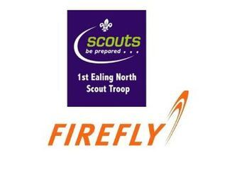 Firefly supporting 1st Ealing North Scout Group