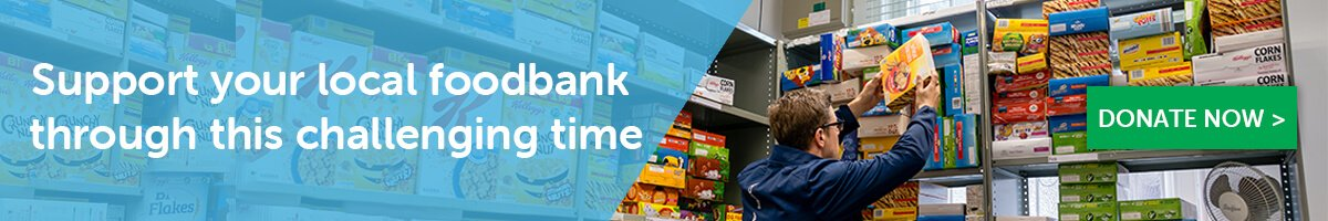 Support your local foodbank with Give as you Live Donate